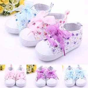 Cute Floral Baby Shoes