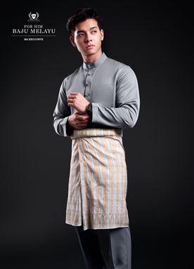 Baju Melayu For Him (Spark Grey)
