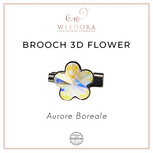 Brooch Fancy Flower Aurora Borealis
