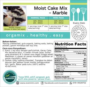 Moist Cake Mix (Marble)