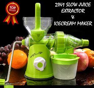 2in1 Slow Juice Extractor & Icecream Maker