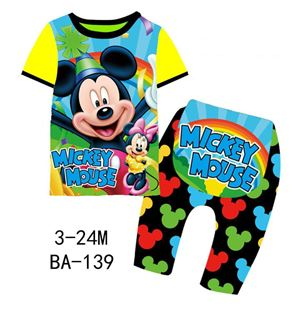 BA-139 'Mickey Mouse' Pyjamas (3M-24M)