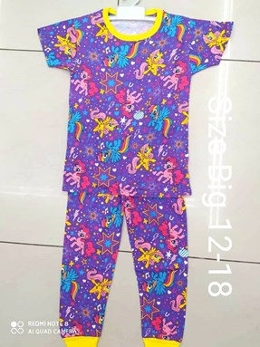 Pyjamas PURPLE LITTLE PONY STAR :  Big Size 12 -14