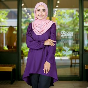 BLOUSE FELISHA - DARK PURPLE