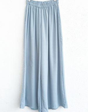 ZARA LOOSE PANTS IN DUSTY BLUE
