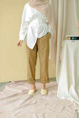 Lucilea Tapered Pants (Peanut)
