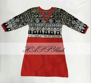 Dress Rompers - Songket Printed - Merah