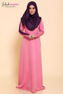 JUBAH MADEENA SPORTY ( Baby Rose Pink )