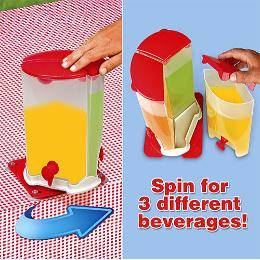 3 compartment drink dispenser with box / 3 spin