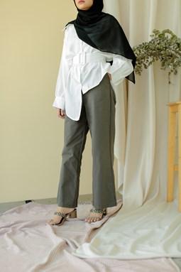 Rosalea Wide Legged Pants (Seal Grey)