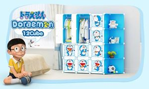 Doraemon DIY 12 Cube Wardrobe blue WITH CORNER