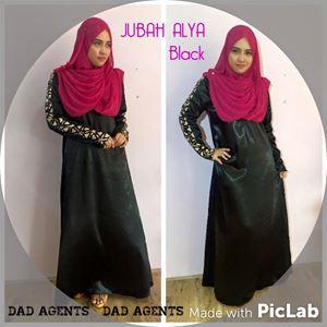Jubah Alya Black