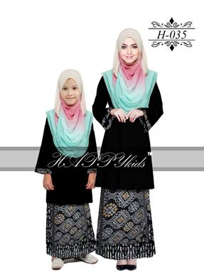 HAPPYkids 2017 Songket Exclusive GIRL ( BLACK )