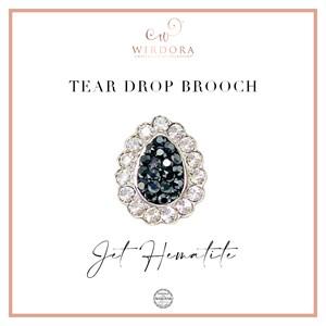 Brooch Inara (Limited Edition) - Jet Hematite