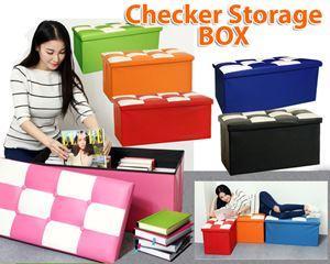 CHECKER SEATER CUM STORAGE BOX