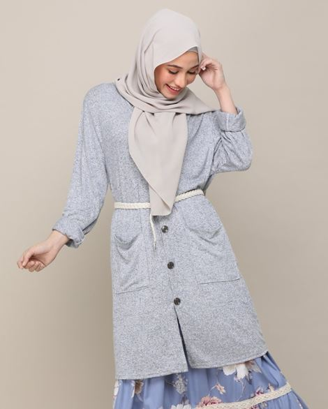 DANIA CARDIGAN IN BLUE GREY