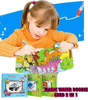 DOODLE PUZZLE WITH DRAWING MAGIC CARD N01067