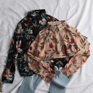 Korean Floral Printed Shirt