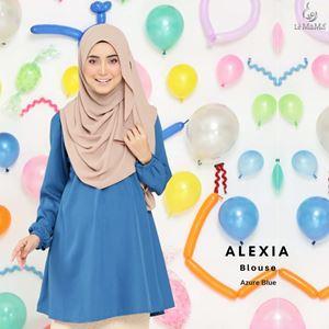 Alexia Blouse : Azure Blue