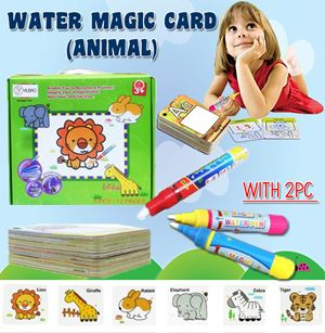WATER MAGIC CARD (ANIMAL) WITH 1 PC WATER PEN