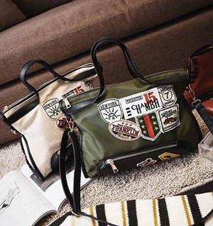 PREORDER PATCH EMBROIDERED HANDBAG ( ETA EARLY -MID FEB )