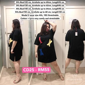 CD25 Ready Stock *Bust 47 to 59 inch/ 120-150cm