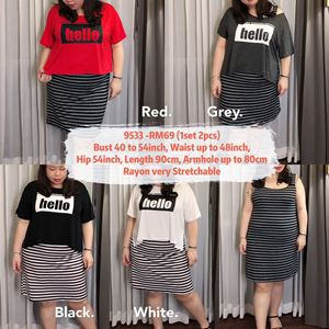 9533 Ready Stock *Bust 40 to 54 inch/ 101-137cm