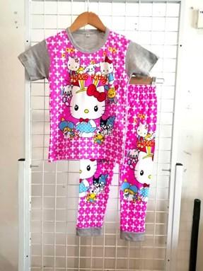 Pyjamas Short Sleeve HELLO KITTY PLUS Grey (Kids 2 -4)