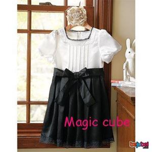 G026/12  MAGIC CUBE DRESS (BLACK & WHITE )
