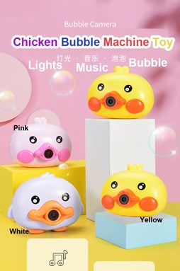 Chicky Automatic Bubbles Camera Music with lights electric Children's Automatic squirting