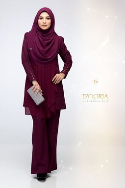 DY'LORIA LUXURIOUS SUIT (BOYSENBERRY)