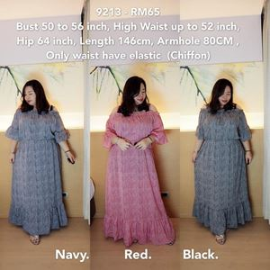 9213 Ready Stock *Bust 50 to 56 inch/ 127-142cm