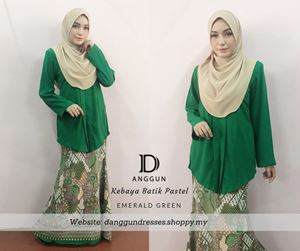 Kebaya Pastel Luna Emerald Green