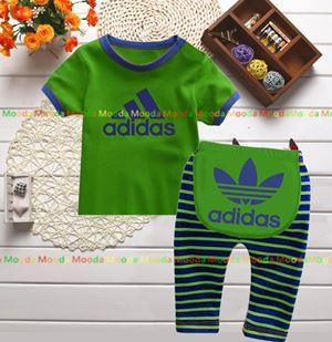 Baby Pyjamas - Green Adidas