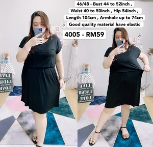 4005 *Bust 44 to 52 inch/ 112 - 132cm