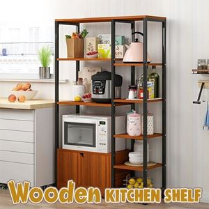 WOODEN KITCHEN SHELF