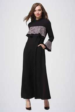 DOUBLE LAYER EXCLUSIVE JUBAH - BLACK