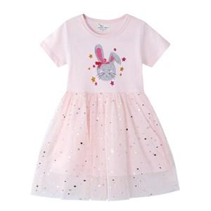 PINK BUNNY DRESS   ( SIZE 2Y-7Y )