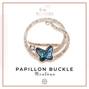 Buckle Papillon Denim Blue