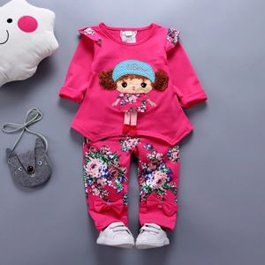 9349-18  DARK PINK GIRL SET  ( SIZE 1Y-3Y )