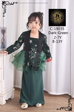 19035  CFO  BAJU RAYA 2020  ( SIZE 2-7Y )  GREEN