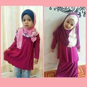 Kids Kurung Arrini ( Royal Purple) - XL sahaja