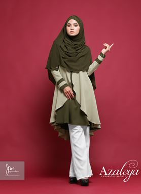 AZALEYA LUXURIOUS BLOUSE (OLIVE GREEN) Y.E.S 02