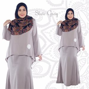 Kurung Aryna - Slate Gray