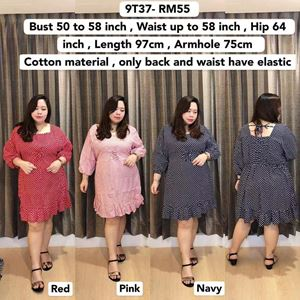 9T37 Ready Stock *Bust 50 to 58inch/ 127-147cm