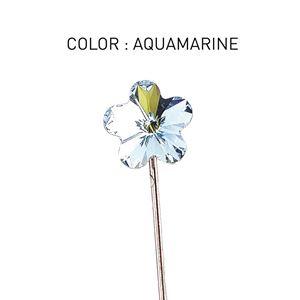 Pin 3D Flower Luxe Aquamarine