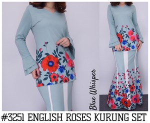 CLEARANCE SALE ENGLISH ROSE KURUNG
