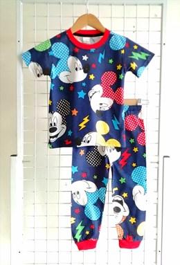 Pyjamas COLORFUL MICKEY LIGHTNING : BABY size 6M - 24M (HELAL)