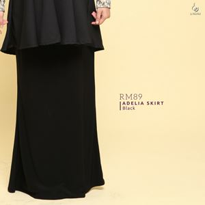 Adelia Skirt Plain : Black