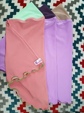 Tudung Ceria ( LD Sport ) Size S ( Beige-Purple)